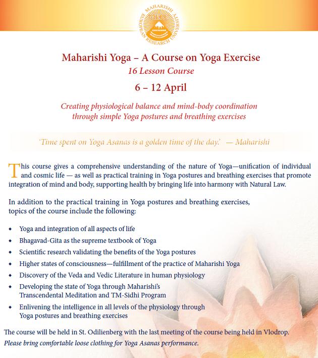 A Maharishi Jóga-tanfolyam témakörei