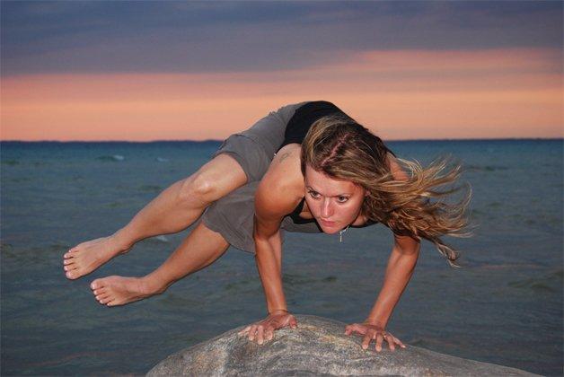 Jennifer O'Laughin Bikram-jóga oktató, a Transzcendentális Meditáció tanára