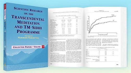 A Transzcendentális Meditáció tudományos kutatási gyűjteménye - a 2013 decemberében kiadott 7. vaskos könyv 948 oldalas